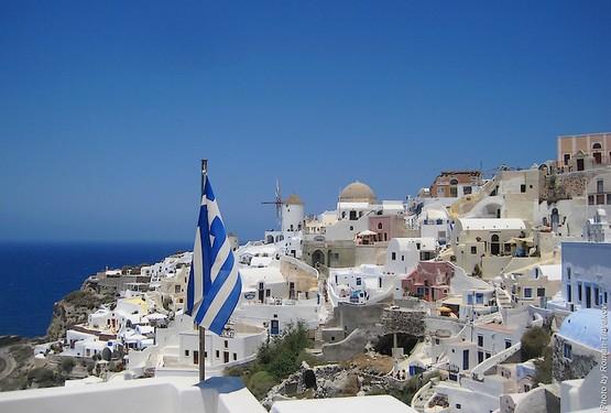 флаг греции фото