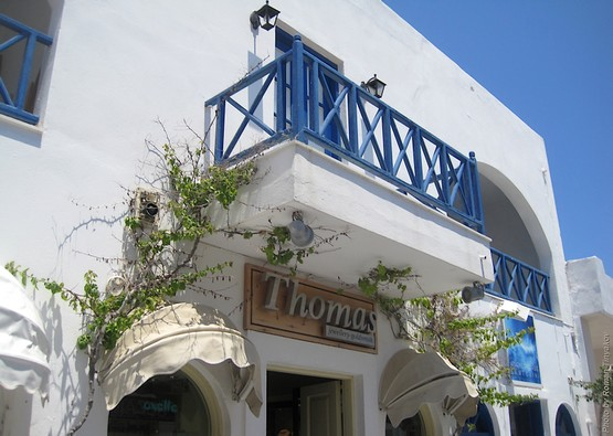Балкон на острове Санторини