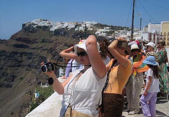 Фотографы на острове Санторини