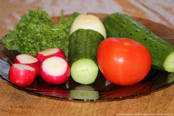 Овощи на салат