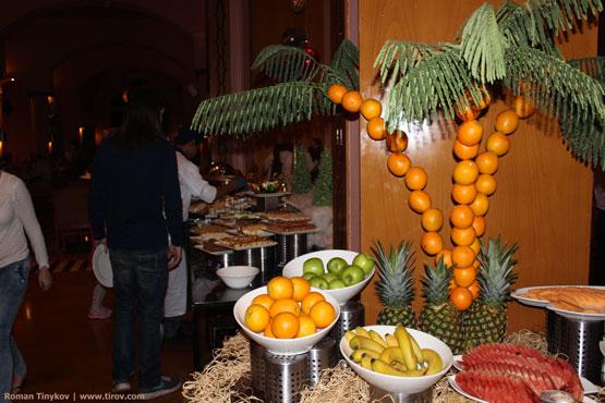 Апельсиновая пальма в ресторане