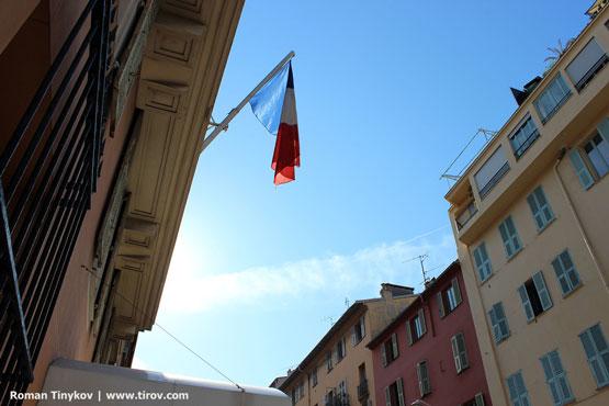 Флаг Франции в Ницце