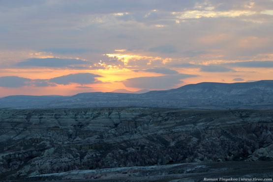 Восход солнца в Каппадокии, Турция