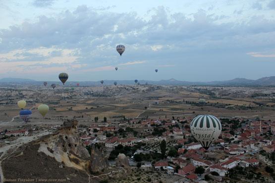 Полёт на воздушном шаре над Каппадокией