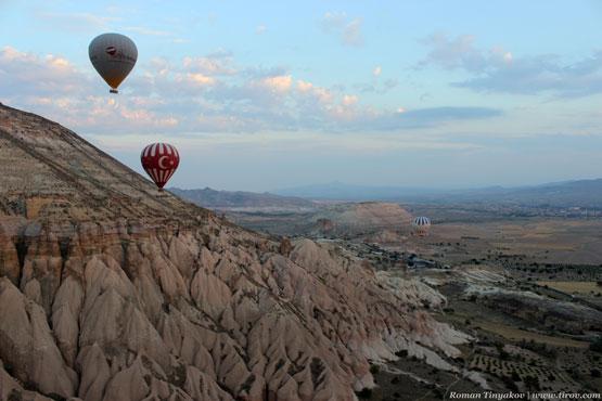 Воздушный шар в виде флага Турции