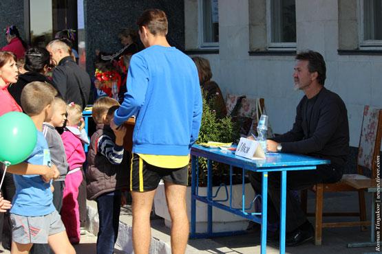 Регистрация участников забега