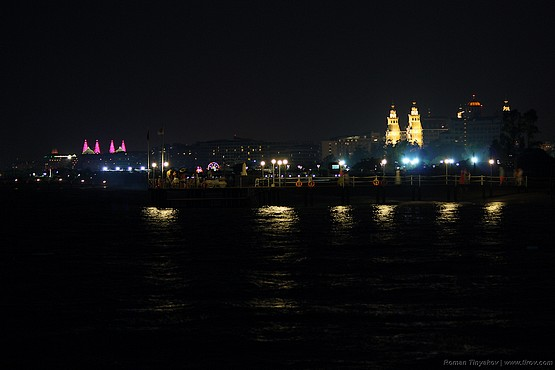 Вид с пирса отеля на Средиземноморское побережье