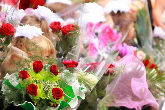 Цветы с бантиками