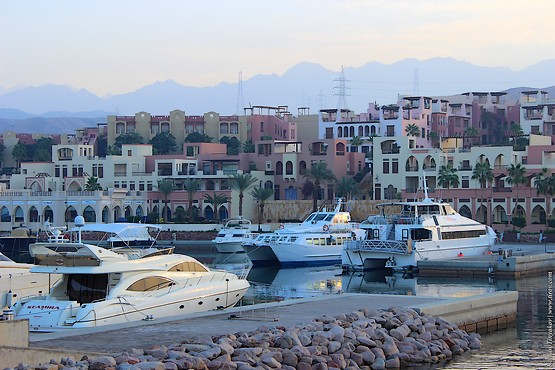 Яхты в порту Акабы, Иордания