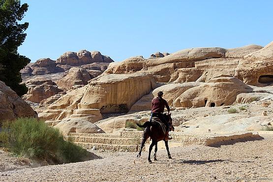 Всадник направляется в каньон Сик