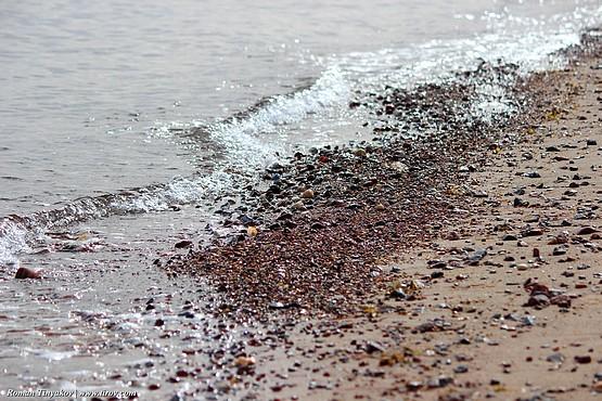 Берег Красного моря у Табы в Египте