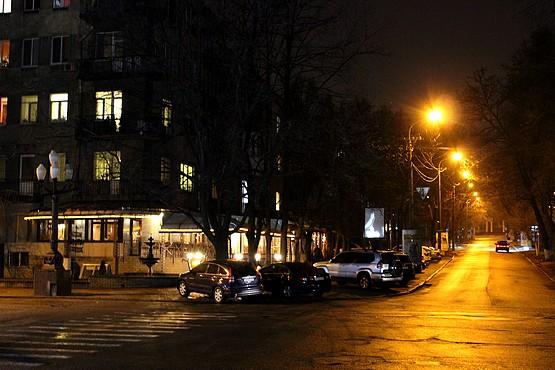 Дорога в центре Днепропетровска