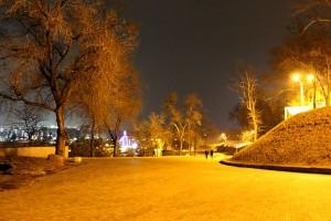 Ночная прогулка в парке имени Т.Г. Шевченко, Днепропетровск