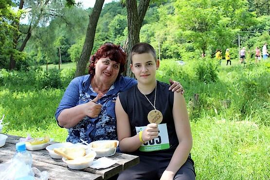 Алексей с бабушкой за столом