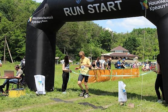 Финиш на дистанции 21 км.