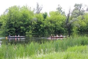 На байдарках по реке