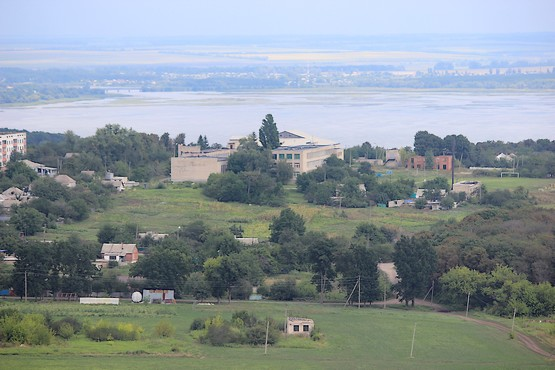Пейзаж Харьковской области - вид с вертолёта