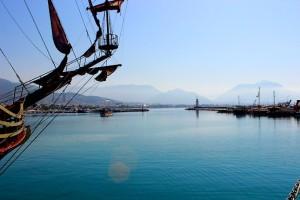 Бухта в Средиземном море у берегов Турции