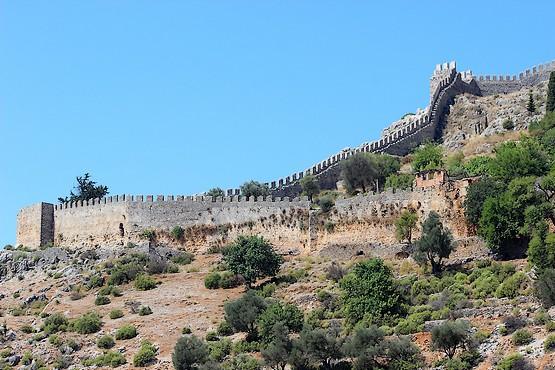 Крепостная стена Алании, Турция