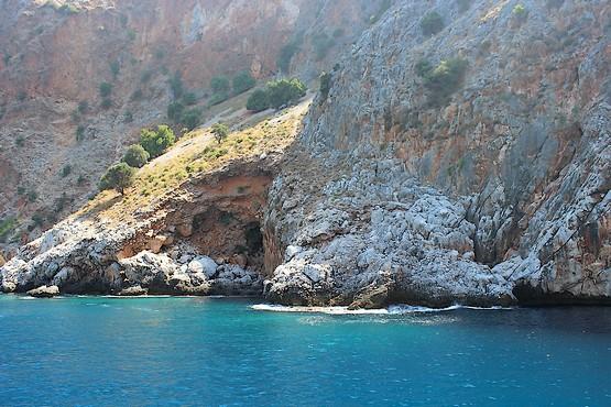 Оазис на склоне скалы у Средиземного моря
