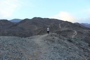 Бег в горах Египта у Красного моря