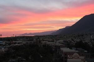 Закат в горах у Красного моря в Египте