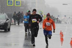 Финиширую в снегопад