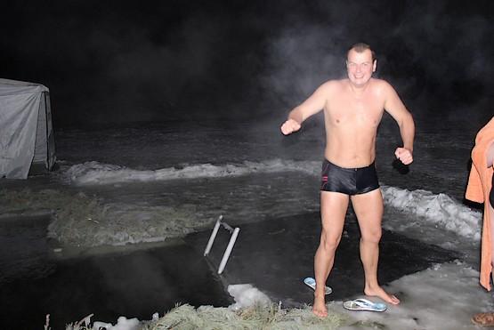Парую после купания в проруби