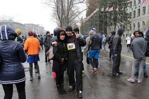 С любимой пред стартом на Kharkiv City Run