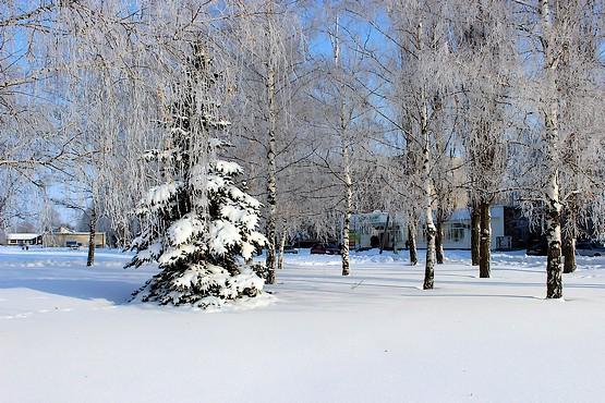Зимняя сказка в городе Первомайский