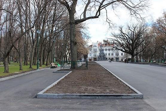 Аллеи в парке Шевченко