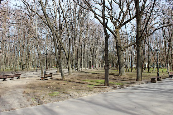 Ухоженный парк в Харькове