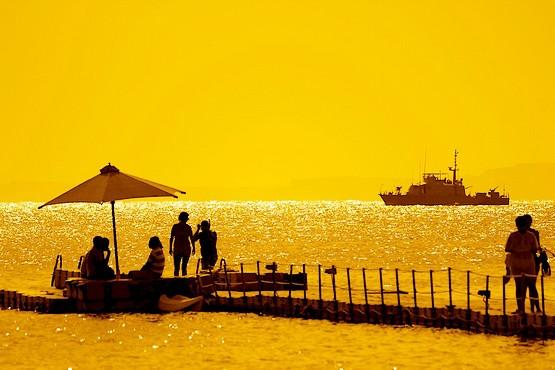Утро на красном море в Египте