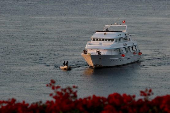 Яхта у берегов Египта в Красном море