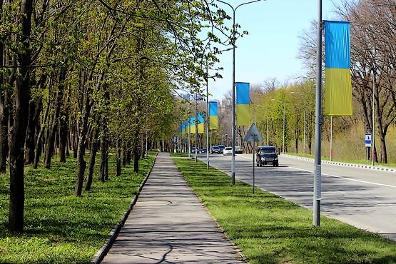 Вдоль дороги в конце апреля 2017 года