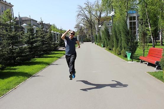 Бегу по парку Горького