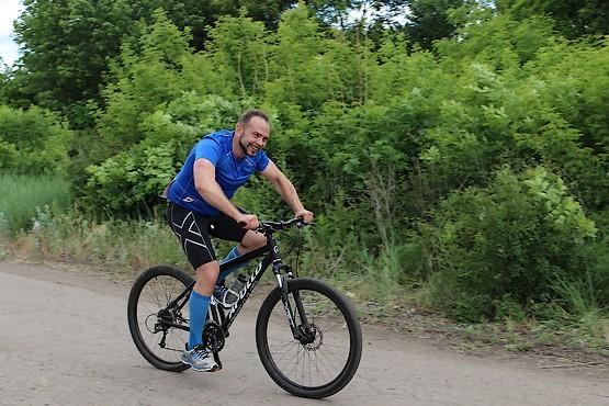 Позитив зашкаливает на велогонке