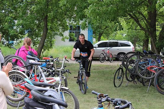 Время ставить велосипед и бежать