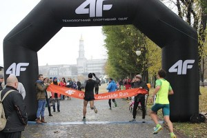 Финиш лидеров 4F Kharkiv Riverside Run