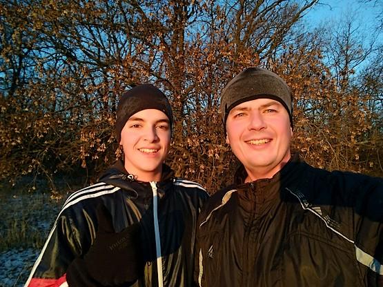 Селфи с сыном на пробежке