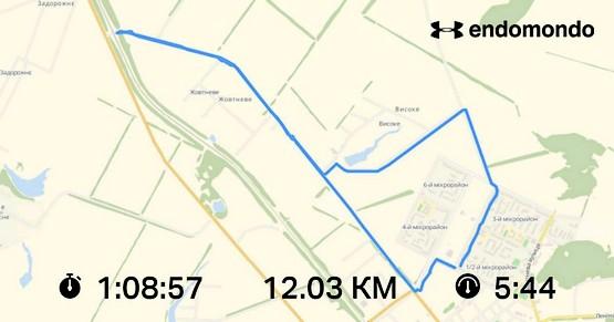 Месяц начал с пробежки на 12 км