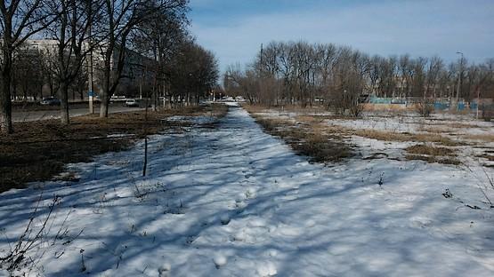 Последний километр бега по снегу