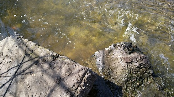 Лишняя вода уходит