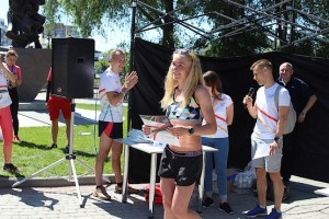 Победитель в абсолюте у женщин на 10 км