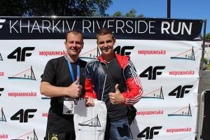 С сыном на 4F Kharkiv Riverside Run 2018 Spring