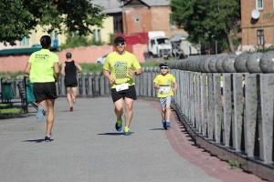 Самый маленький участник на дистанции 5 км