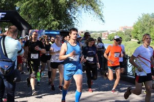Старт на 10 км 4F Kharkiv Riverside Run 2018 Spring