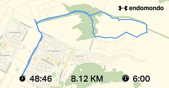 8 км по лесу