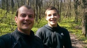 С сыном на 7 километре