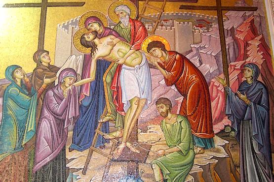 Фреска в Храме Гроба Господня